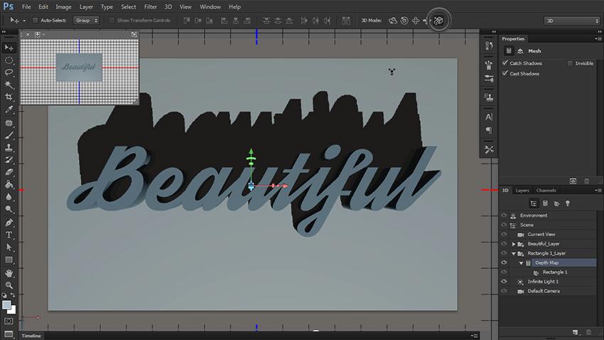 چگونه یک متن سه بعدی در فتوشاپ طراحی کنیم؟ 10