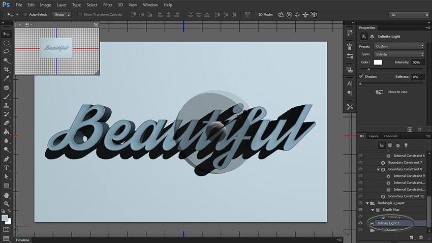 چگونه یک متن سه بعدی در فتوشاپ طراحی کنیم؟ 13