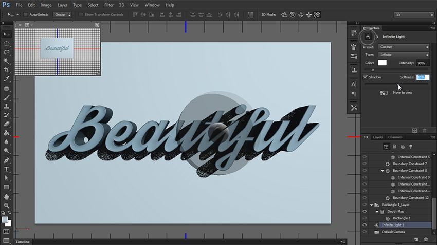 چگونه یک متن سه بعدی در فتوشاپ طراحی کنیم؟ 14