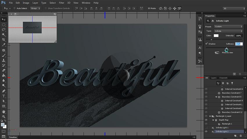چگونه یک متن سه بعدی در فتوشاپ طراحی کنیم؟ 16