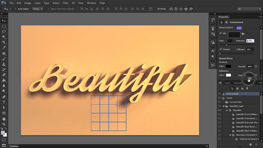 چگونه یک متن سه بعدی در فتوشاپ طراحی کنیم؟ 21