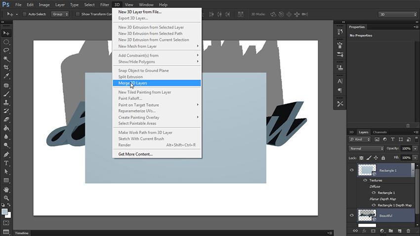چگونه یک متن سه بعدی در فتوشاپ طراحی کنیم؟ 9