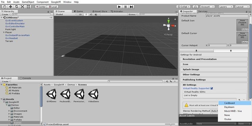 آموزش ساخت بازی واقعیت مجازی در یونیتی 4