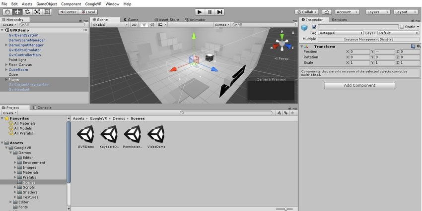 آموزش ساخت بازی واقعیت مجازی در یونیتی 5