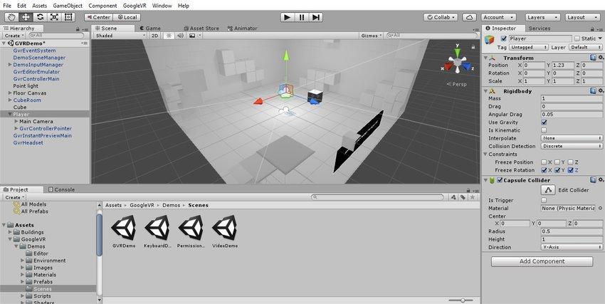 آموزش ساخت بازی واقعیت مجازی در یونیتی 7