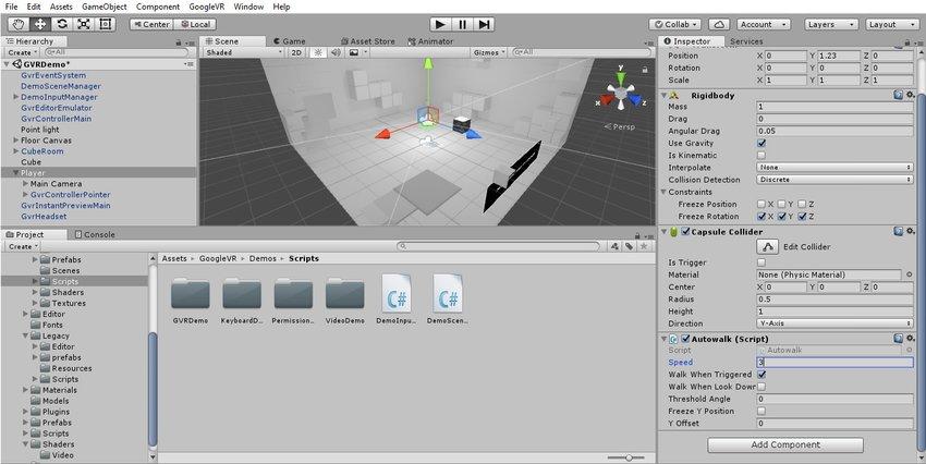 آموزش ساخت بازی واقعیت مجازی در یونیتی 8