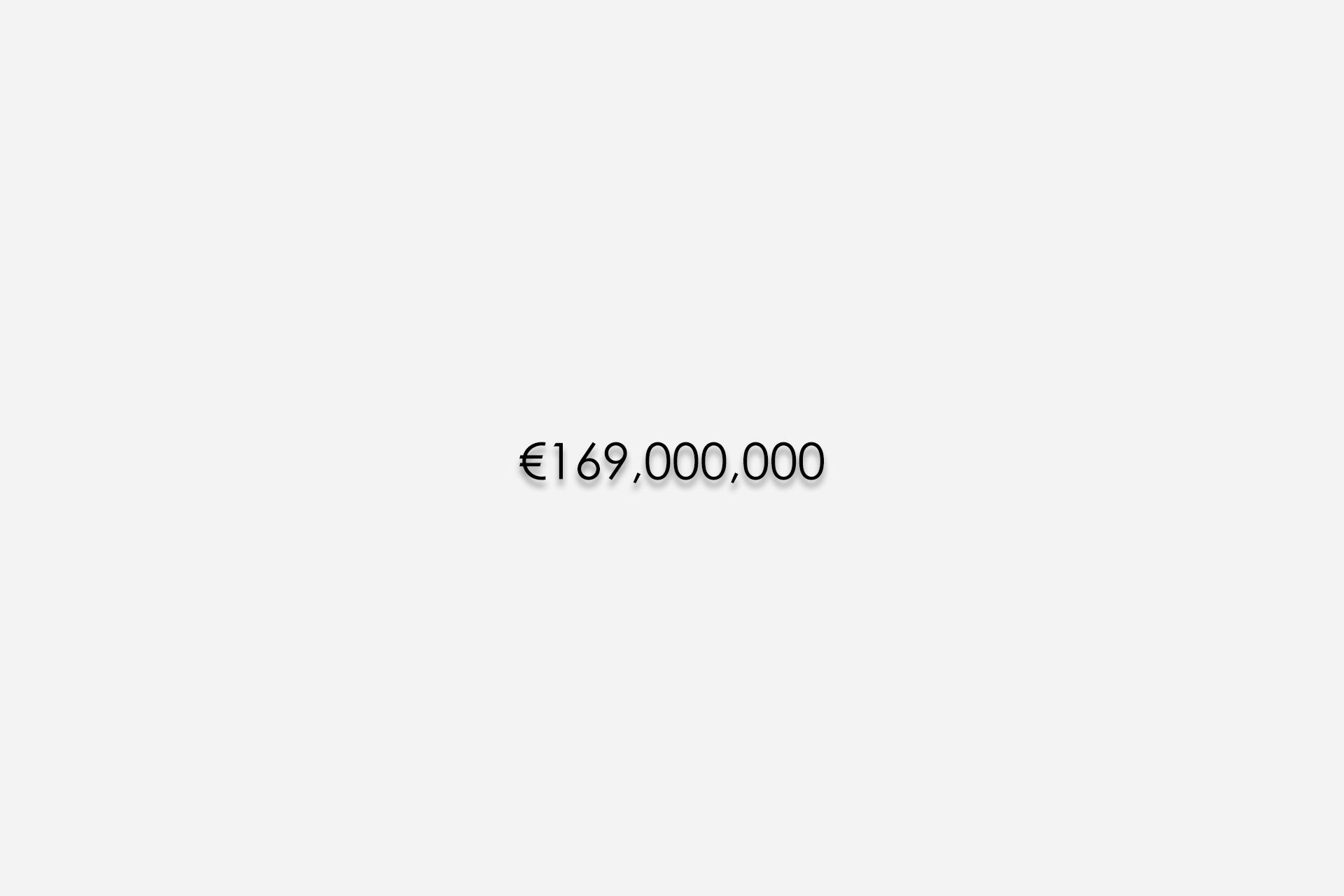 زلاتان ابراهیموویچ, 169 میلیون یورو