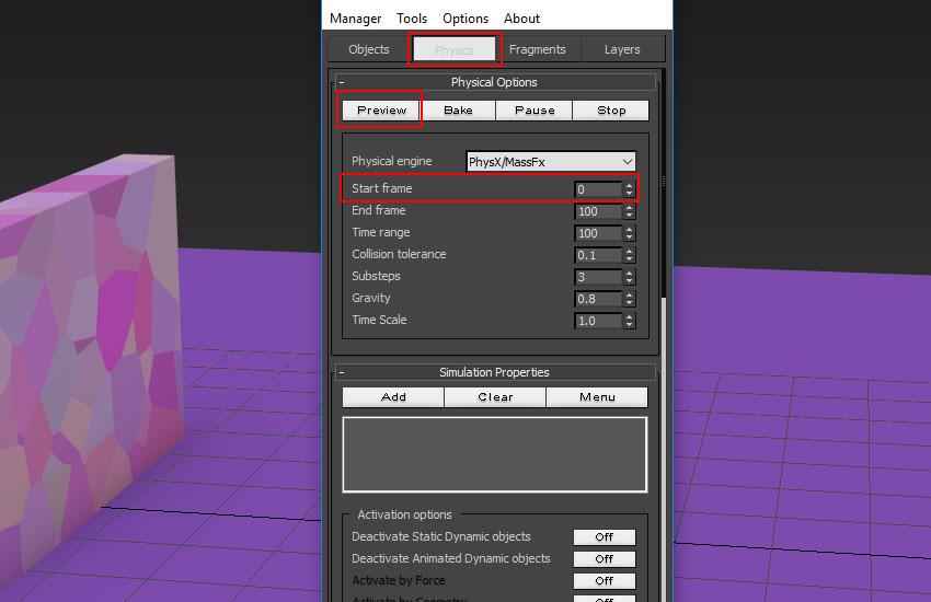 تخریب عناصر در 3ds Max 11