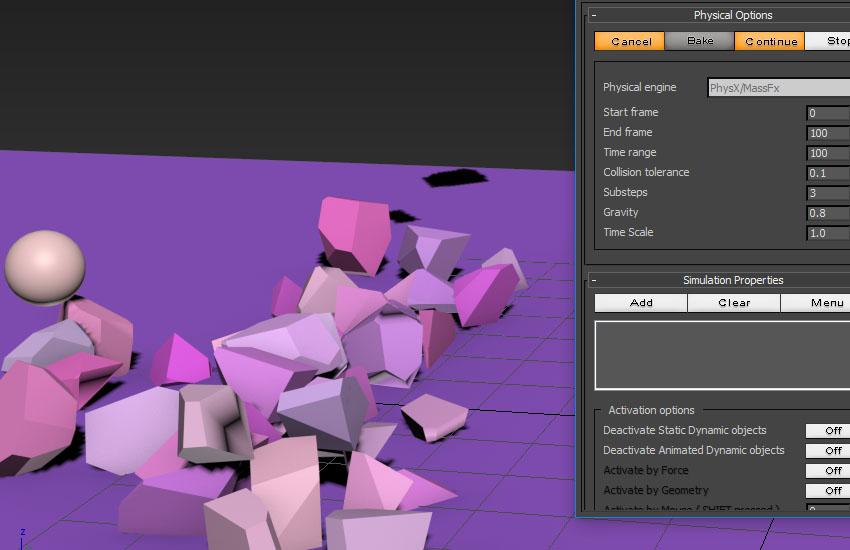 تخریب عناصر در 3ds Max 12
