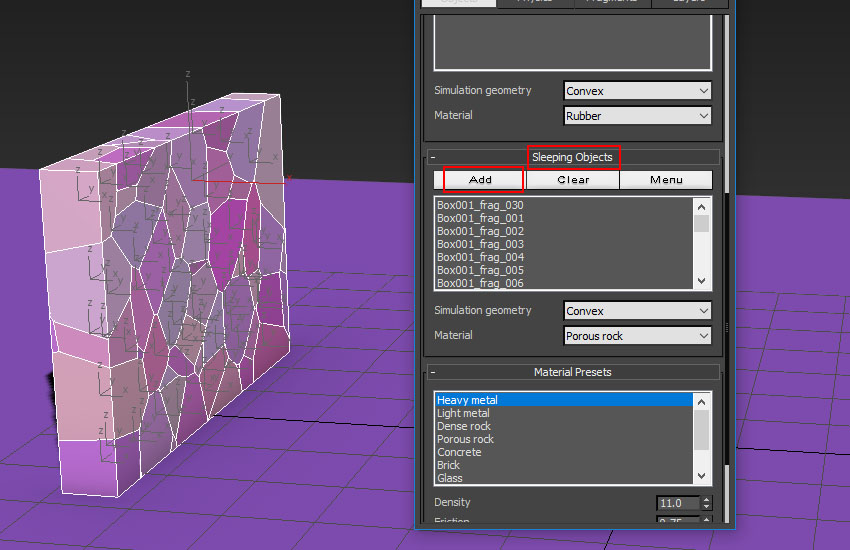 تخریب عناصر در 3ds Max 13