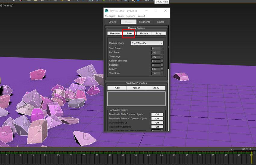 تخریب عناصر در 3ds Max 14
