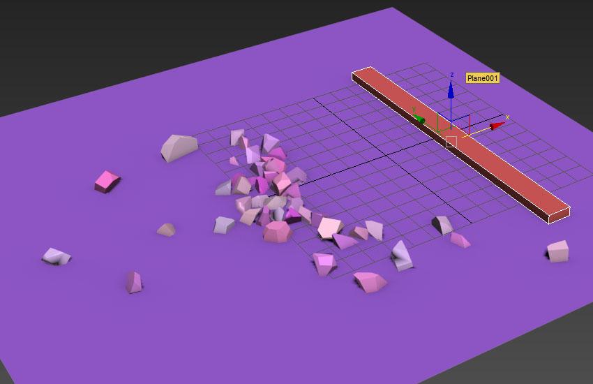 تخریب عناصر در 3ds Max 16