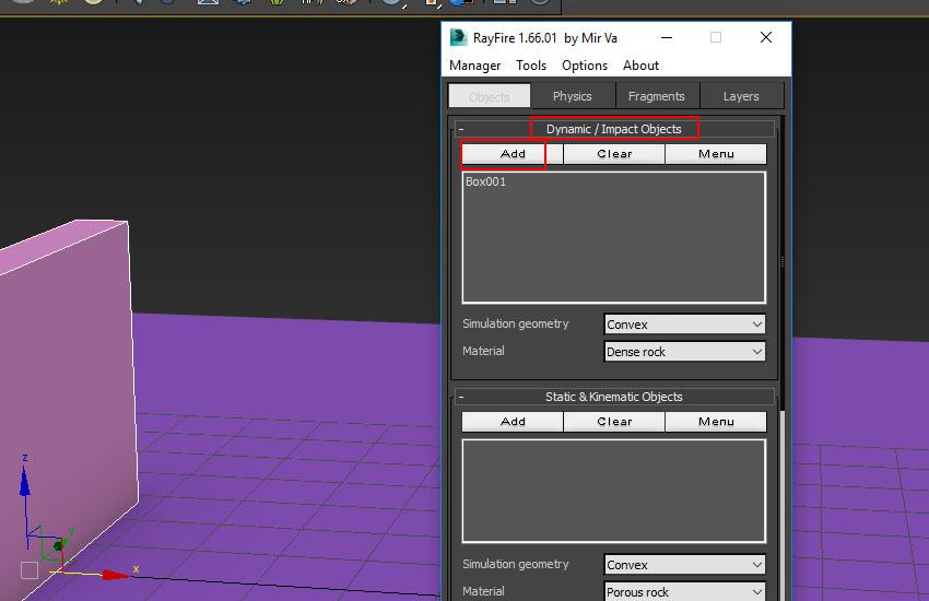 تخریب عناصر در 3ds Max 8