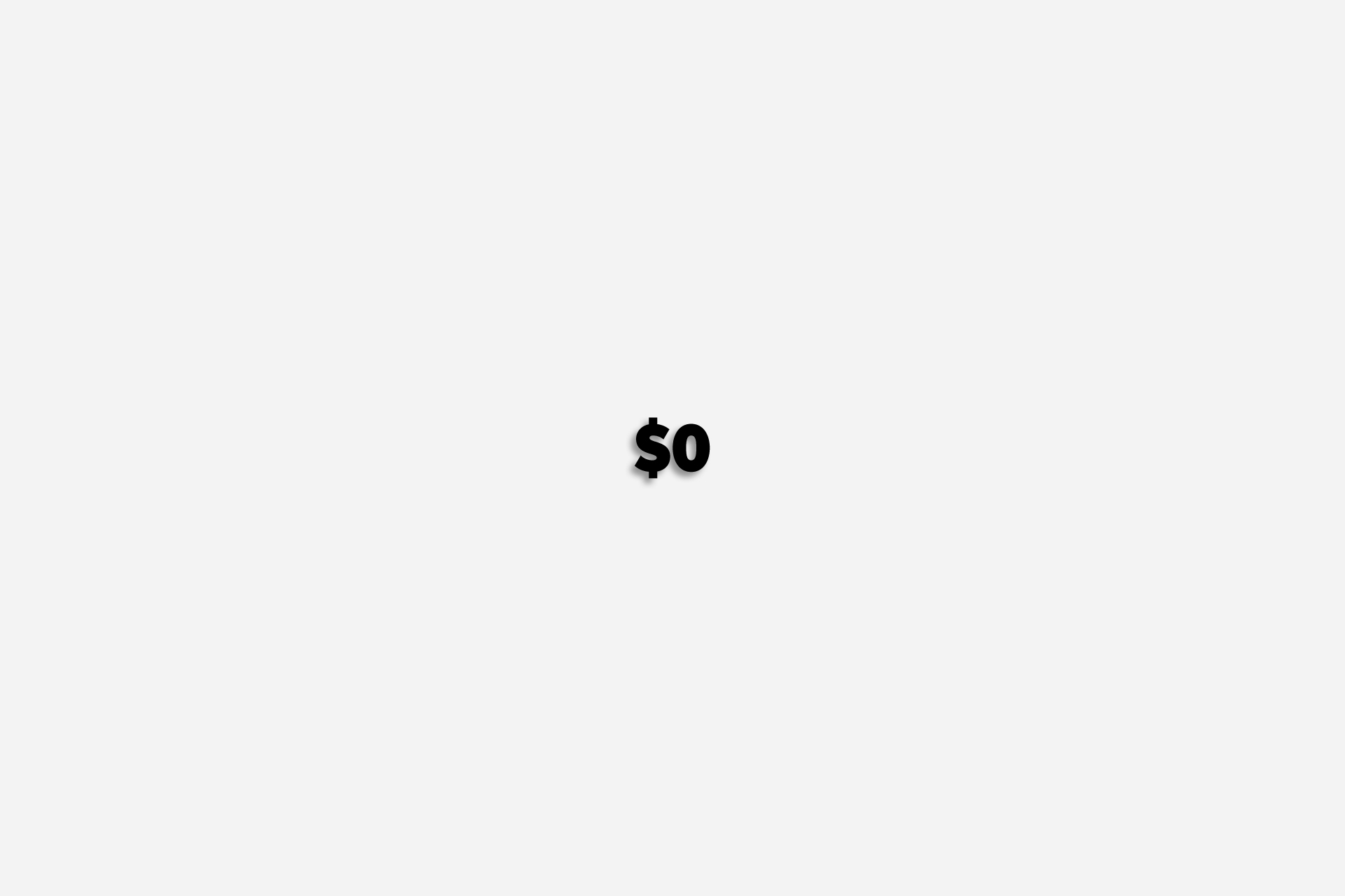 ایده کسب درآمد دلاری با چاپ بنابر تقاضا, صفر دلار